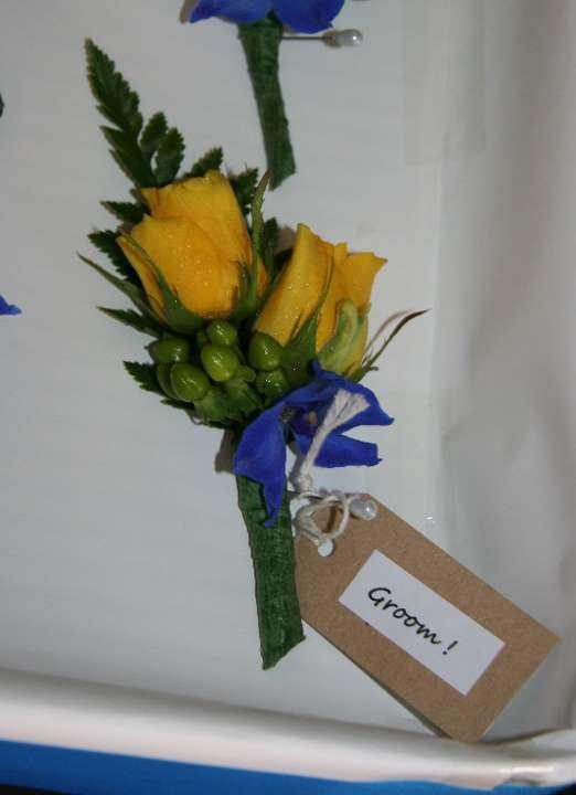 Yellow rose buttonhole