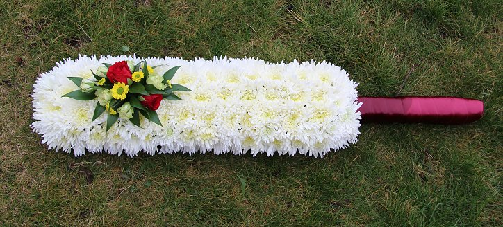 Cricket bat sympathy wreath