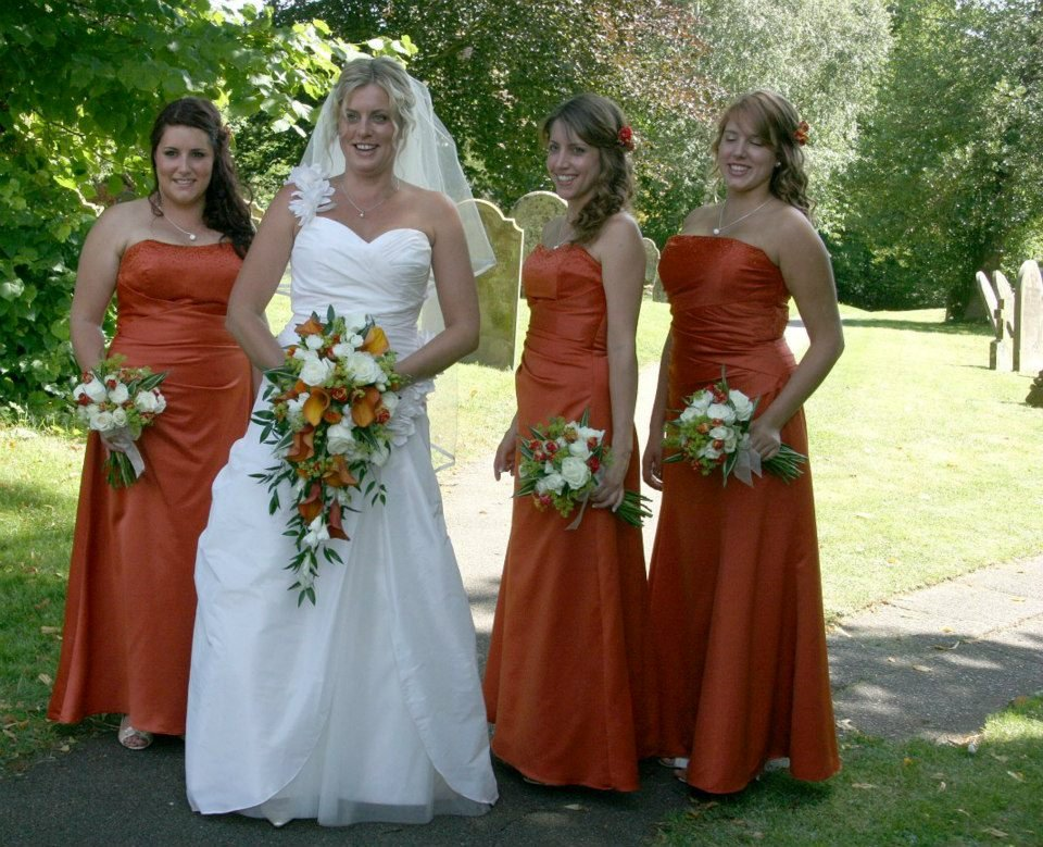 Burnt orange cala lily bridal bouquet
