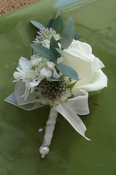 country wedding groom buttonhole