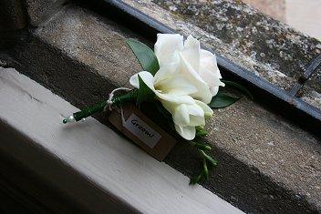 Rose and freesia buttonhole