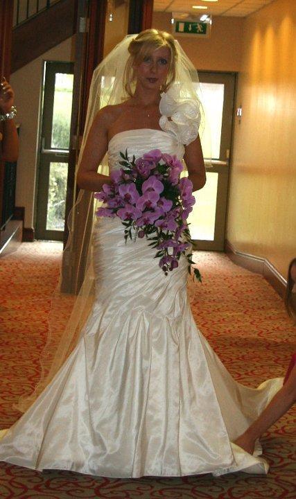 Pink Orchid bridal bouquet