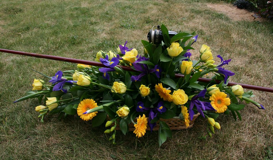 Sympathy wreath for fisherman