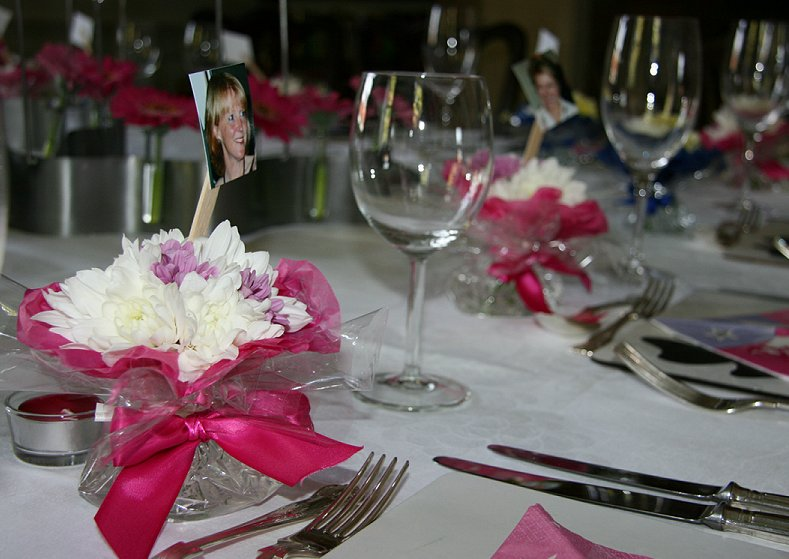 flower place settings for weddings