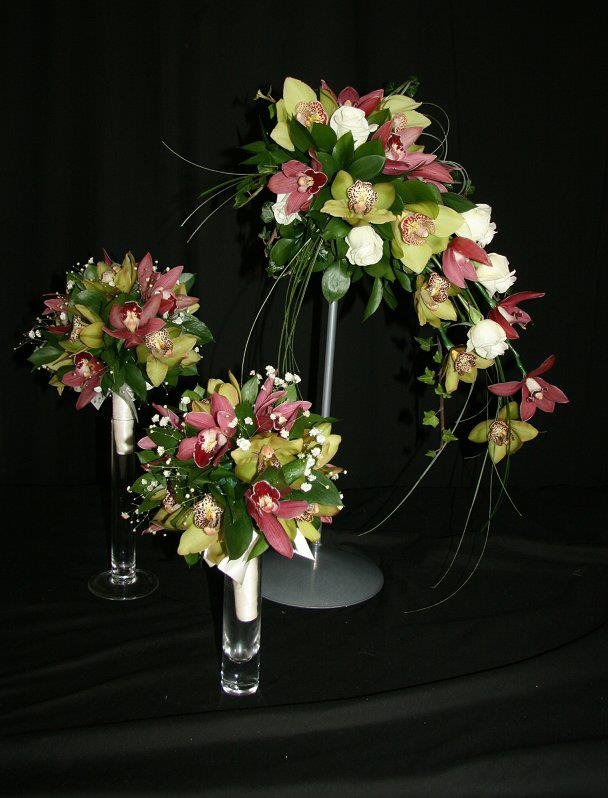 Bridesmaid posy bouquet of orchids