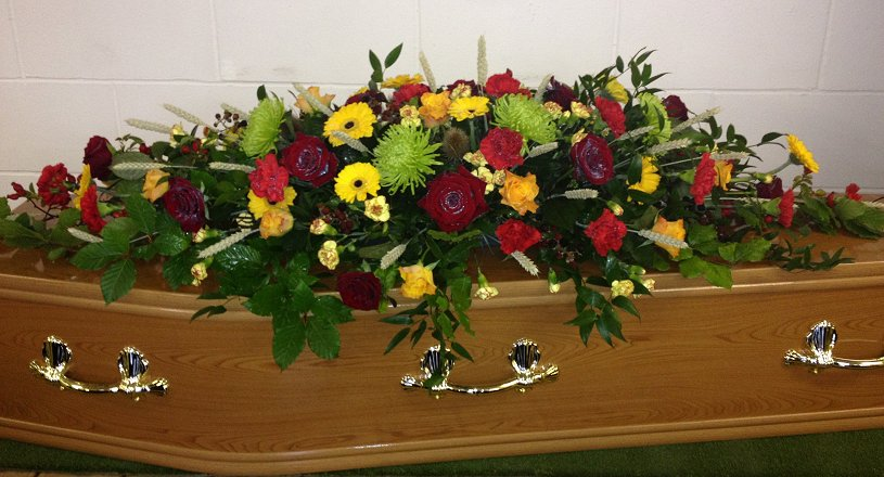 Coffin sprays, individually designed and personalised