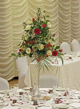 Martini glass wedding centrepiece