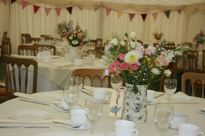 Vintage country wedding in Marquee