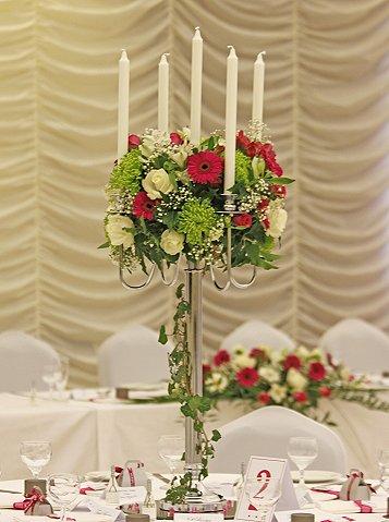 Candelabra Centrepiece Wedding flowers
