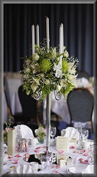 Beautiful Candelabra table arrangements