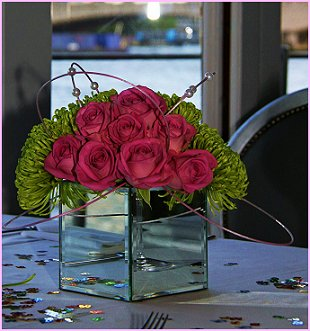 """The Yacht London"" Table arrangement"