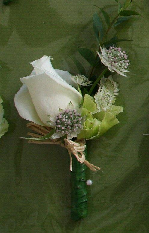 Country style gents buttonhole